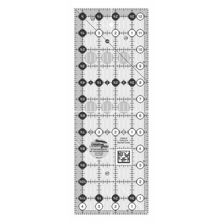 """Quilting Ruler 4-1/2"""" x 12-1/2"""", Creative Grids"""