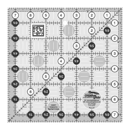 "Quilting Ruler 7-1/2"" Square, Creative Grids"