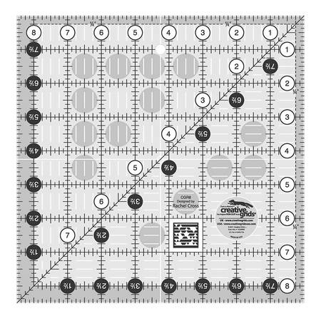 "Quilting Ruler 8-1/2"" Square, Creative Grids"