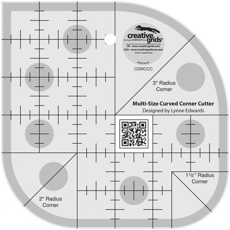 Non-Slip Curved Corner Cutter Ruler, Creative Grids