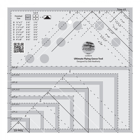 Ultimate Flying Geese Template and Quilt Ruler, Creative Grids