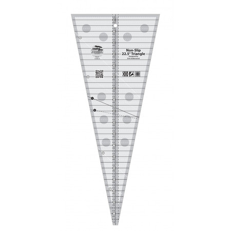 22-1/2in Degree Triangle Quilt Ruler, Creative Grids
