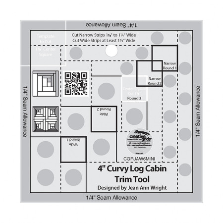 Curvy Log Cabin Trim Tool 4in, Creative Grids