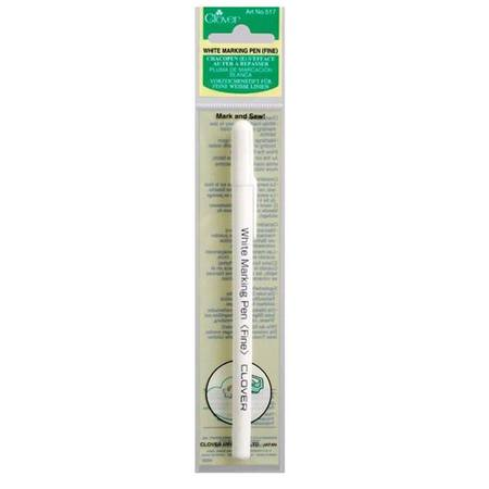 White Ink Water Soluble Pen, Clover #CL517