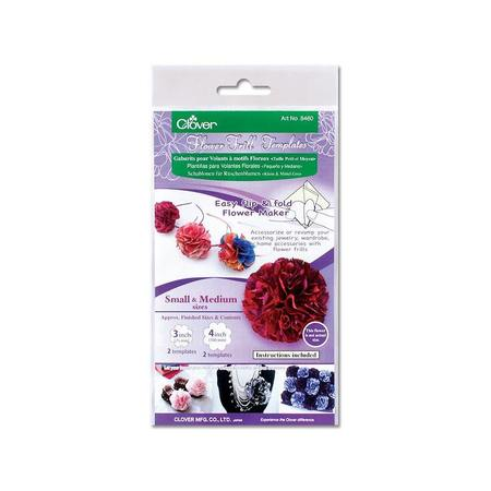 Flower Frill Template, Small & Medium, Clover