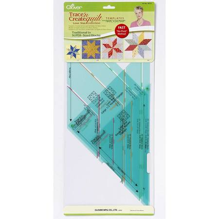 Trace 'n Create Quilt Templates, Lone Star, Clover