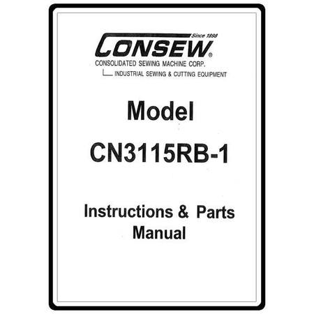 Instruction Manual, Consew CN3115RB-1