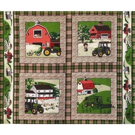 Springs Creative, John Deere Pillow Fabric Panel