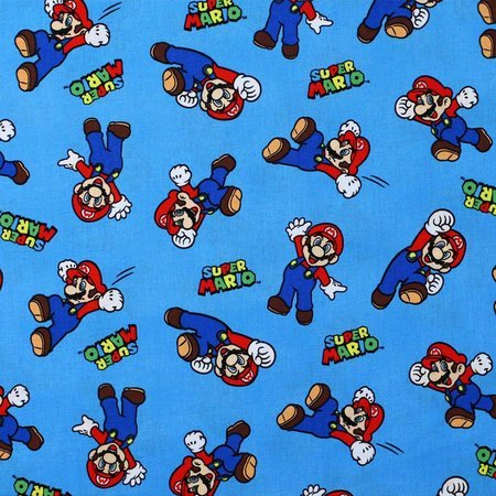 Springs Creative, Super Mario Toss, Nintendo, Blue Fabric