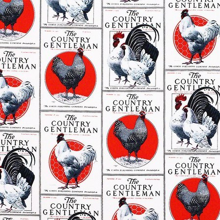 Springs Creative, Country Gentleman, Roosters Fabric