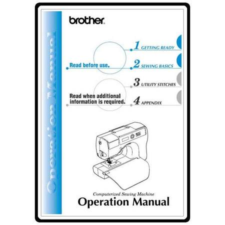 Instruction Manual, Brother CS-8130