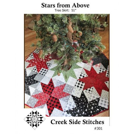 Christmas Tree Skirt Patterns To Sew.Stars From Above Tree Skirt Pattern