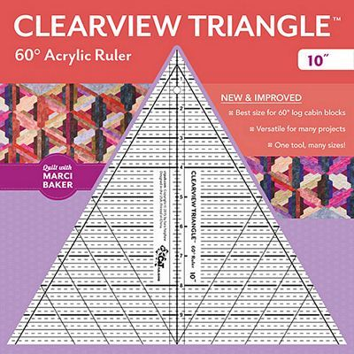"""60 Degree Clearview Triangle Ruler (10"""")"""