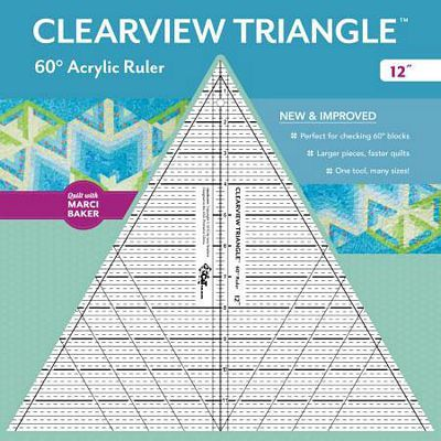 "60 Degree Clearview Triangle Ruler (12"")"