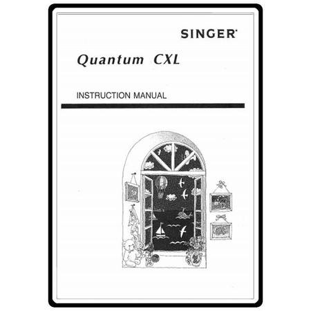 Instruction Manual, Singer CXL