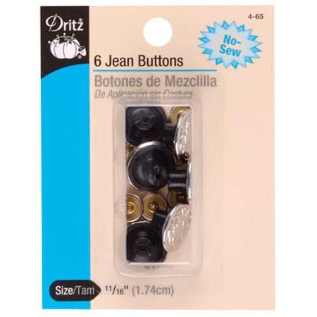 No-Sew Jean Buttons (6pk) #D4-65