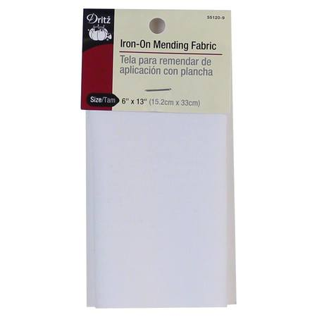 Iron-On Fabric, 6in x 13in - White, Dritz #D55120-9