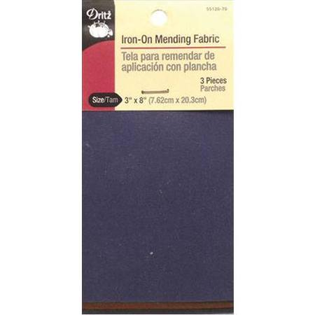 Iron-On Fabric, 3in x 8in - Dark Assortment, Dritz #D55120-70