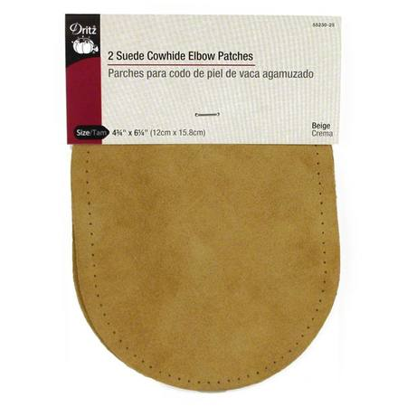Leather Elbow Patch (Suede) - Beige, 4-3/4in x 6-1/2in, 2ct.