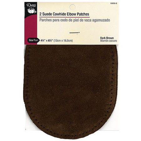 Leather Elbow Patch (Suede) -Dark Brown (2pk) #D55230-2