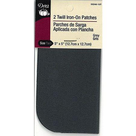 Dritz Twill Iron-On Patch - 2pk