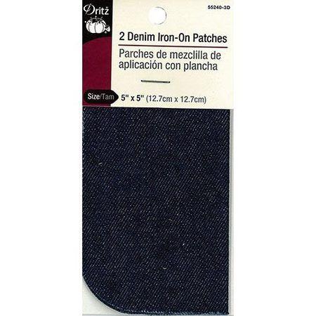 Dritz Denim Iron-On Patch - 2pk