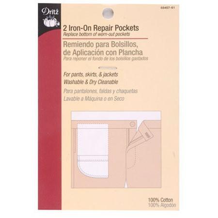 Iron-On Repair Pocket, Dritz #D55457