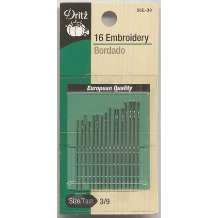Embroidery Needles Set (16pk), Dritz