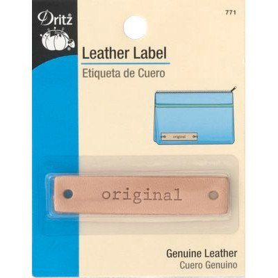 "Leather Label, Rectangle, ""Original"""
