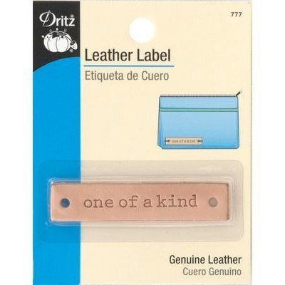 "Leather Label, Rectangle, ""One of a Kind"""