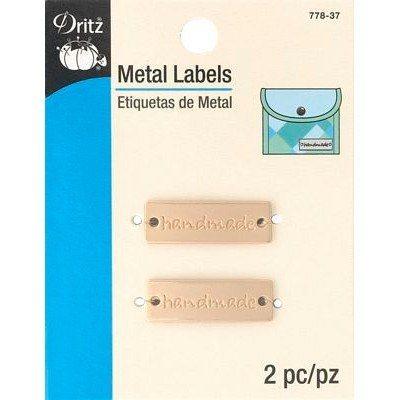 Metal Labels, Matte Gold