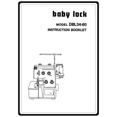 Instruction Manual, Babylock DBL34-60