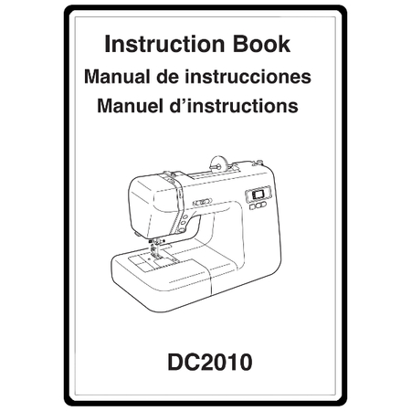 Instruction Manual, Janome DC2010