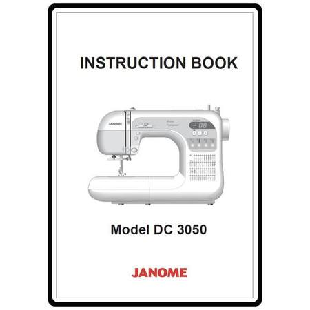 Instruction Manual, Janome DC3050