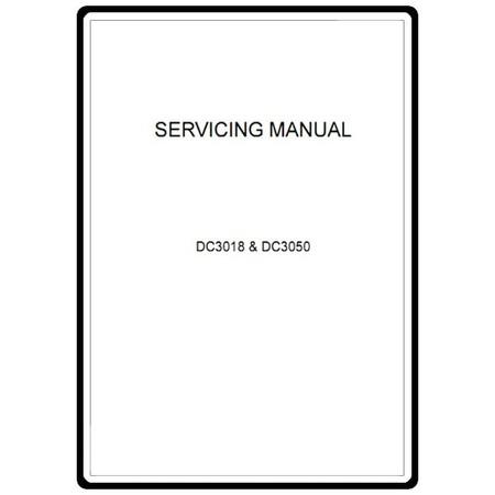 Service Manual, Janome DC3050