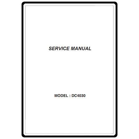 Service Manual, Janome DC4030