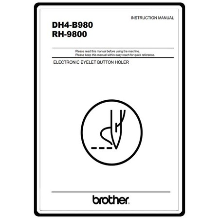 Instruction Manual, Brother DH4-B980