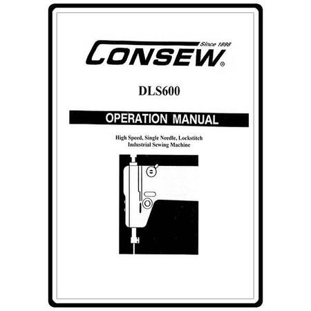 Instruction Manual, Consew DLS600