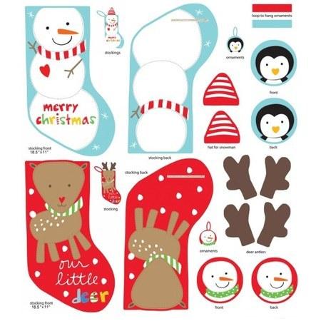 Studio E, Huggable & Loveable, Christmas Fabric Panel