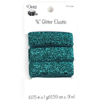 "Glitter Elastic 5/8"" x 1 yd , Dritz (9 Colors Available)"