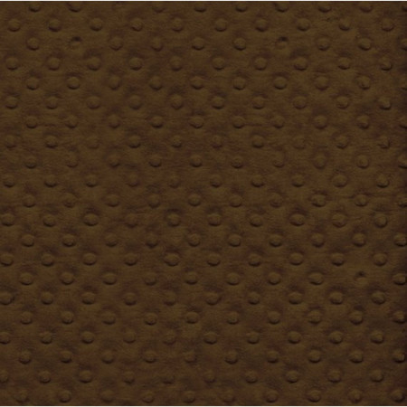 Plush Minky Fleece Fabric - Chocolate Brown