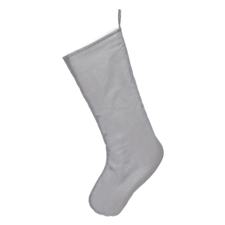 Embroider Buddy Chic Christmas Stocking, Dove Gray