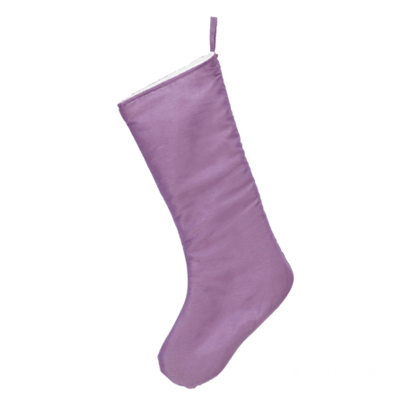 Embroider Buddy Chic Christmas Stocking, Lilac Purple