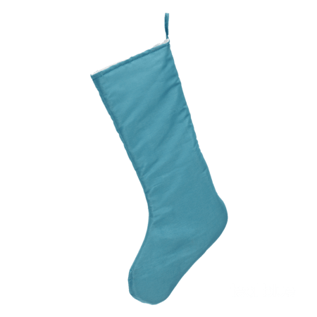 Embroider Buddy Chic Christmas Stocking, Teal Blue