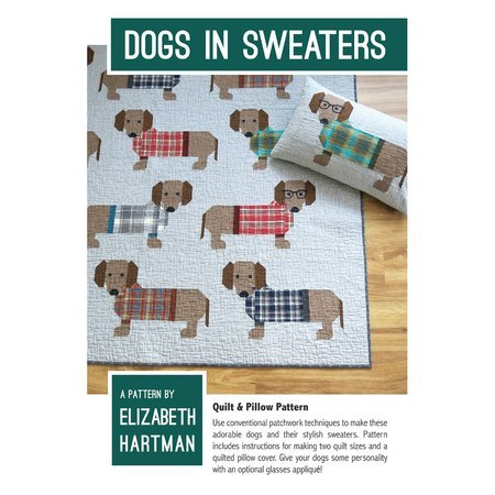 Dogs in Sweaters Pattern, Elizabeth Hartman