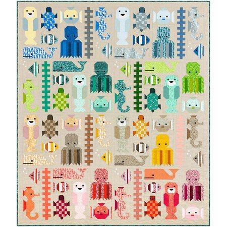 Awesome Ocean Quilt Pattern, Elizabeth Hartman
