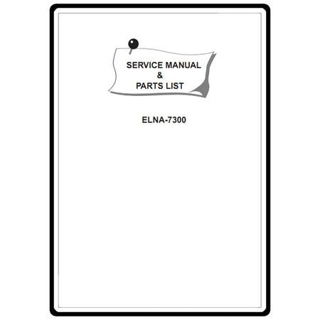 Service Manual, Elna 7300