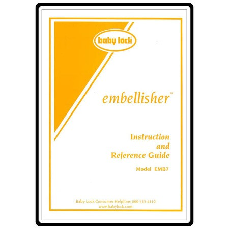 Instruction Manual, Babylock Embellisher EMB7