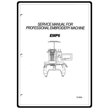 Service Manual, Babylock EMP6 Embroidery Pro.