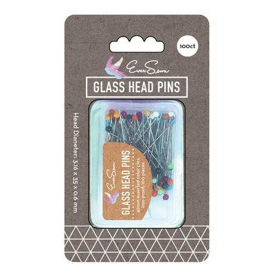 "100pk Glass Head Pins (1-9/16""), EverSewn"